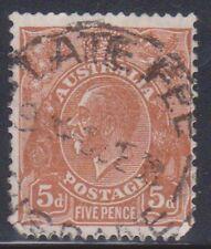 (K109-39) 1936 AU 5d brown KGV cancel late fee (AN)