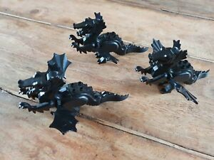 3 Vintage Lego Black Dragons Knights Castle