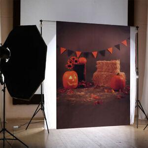 Halloween Pumpkin Backdrops Photo Background Studio Props Wall Decor Vinyl Cloth