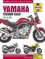 Haynes 4287 Manual for Yamaha FZS1000 Fazer Motorcycle 2001-2005