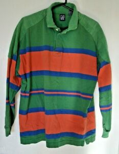 Mens Rugby Long Sleeve Polo Shirts Green All Size XS to 2XL Casual Regular Fit