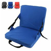 Portable Folding Cushion Chair Wide Stadium Bleacher Seat Lightweight Outdoor 1X