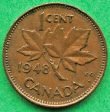 Canada  Lot G1120 1948 1 one Cent penny King George VI  Circulated