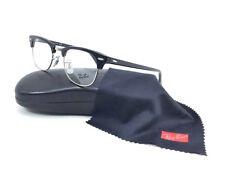 Ray Ban Clubmaster RX5154 2000 Shiny Black Demo Lens 49mm Eyeglasses