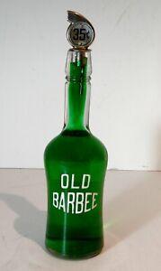1880s OLD BARBEE BOURBON WHISKEY BACK BAR BOTTLE / SALOON WHISKEY DISPLAY BOTTLE