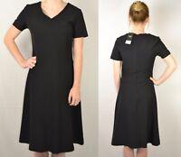 NEXT NEW UK 6-18 BLACK FLUTED WORKWEAR DRESS 305