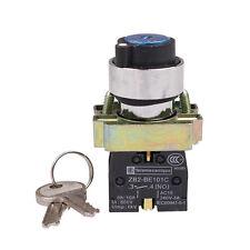 Selector de 2 posiciones clave operado XB2BG61 Pulsador Interruptor N/S Interruptor De Botón