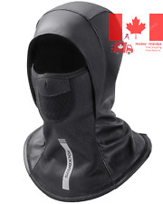 Ski Mask Balaclava Men Winter Windproof Full Face Cover PU Leather Black