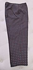 "PIAZZA SEMPIONE Gray & Red Patterned ""Audrey"" Side Zip Pants - Size 48"