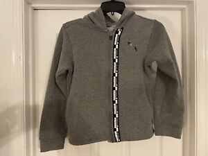 PUMA Boys Hoodie Sweatshirt Zip Jacket Size Youth Small 8 Grey