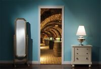 Door Mural Wine Cellar View Wall Stickers Decal Wallpaper 90
