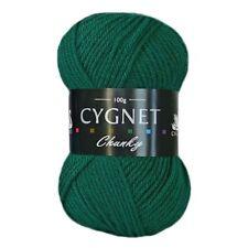 Cygnet Chunky Cheap 100 Acrylic Knitting Yarn / Wool 100g Emerald 377