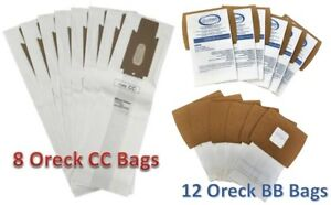 8 Oreck XL Type CC + 12 Oreck XL Type BB Bag Supply Kit