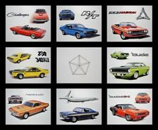 8 ART PRINTS POSTERS - DODGE CHALLENGER T/A 1970 1971 1972 1973 1974 340 318 225