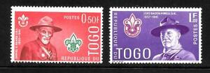 TWO Togo Scouting stamps M/M