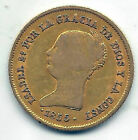 Isabel II 100 Reales 1855 Seville @@ Very Nice @@