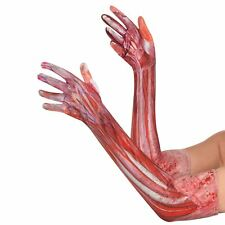 Halloween Sinister Surgery Anatomy Zombie Flesh Gloves Accessory SFX Gore Horror
