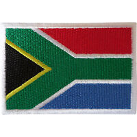 South Africa Flag Patch Iron Sew On Clothes Jacket Bag African Embroidered Badge
