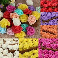 50Pcs Mini Artificial Roses Fake Foam Flower Bouquet Wedding Romatic Home Decor