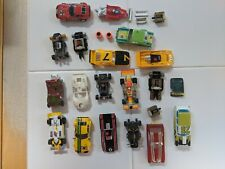 Lot of vintage slot car bodies and parts 1975-1980