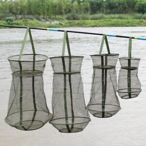 1* Fishing Bait Trap Fish Net Cast Dip Cage Crab Minnow Crawdad Shrimp Foldable