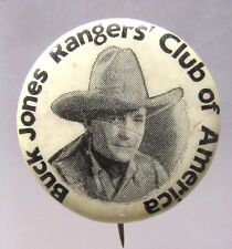 Type I 1931 BUCK JONES RANGERS' CLUB OF AMERICA pinback button cowboy movies ^