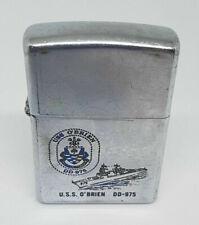 VINTAGE USED ZIPPO LIGHTER U.S.S O'BRIEN DD-975 VIETNAM WAR