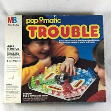 Vintage Pop-o-matic TROUBLE Board Game 1986 Milton Bradley Complete in Box Works