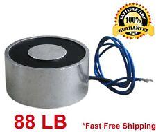 88 LB (40kg) Electric Lifting Magnet Electromagnet Solenoid Lift Holding 49mm