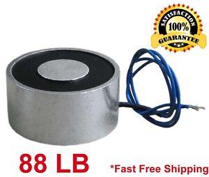 88 LB (40kg) Electric Lifting Magnet Electromagnet Solenoid Lift Holding 50mm