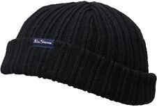 Ben Sherman Adler Docker Skull Beanie Hat Black Mens Womens Winter Fashion