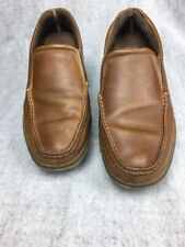 MARGARITAVILLE Men's 'Bonaire' Brown Leather Slip On Casual Loafers Shoes Sz 12