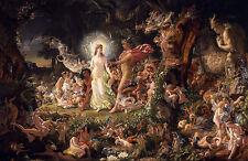 Sir Joseph Noel Paton, The Quarrel of Oberon and Titania, Poster, Canvas Print