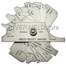 7Piece Fillet Weld Set Gage RL Gauge Welding Inspection Test Ulnar Inch & Metric