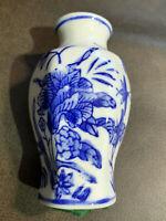 "MINIATURE ORIENTAL ASIAN BLUE & WHITE VASE Silvestri 3"" Bud Vase"