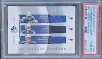 2003 SP Authentic Brady/Johnson/Kingsbury Threads #'d/175 PSA 10 GEM MINT POP1!!