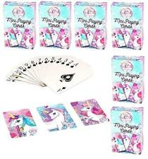 6 x Packs of Unicorn Mini Playing Cards, Great for Party Bags, Prizes