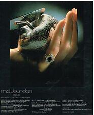 Publicité Advertising 1977 Les Bijoux bague M.D Jourdan