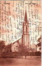 Hungary Budapest Ujpest - Rom. kath. templom 1923 used sepia postcard