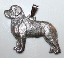 Newfoundland Newfie Dog Harris Fine Pewter Pendant Usa Made