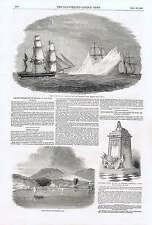 1850 Arctic Expedition SIR JOHN FRANKLIN Maria Island Lichfield Cattedrale monume