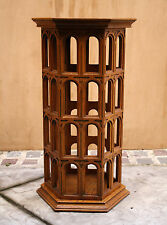 "MAGNIFICENT 19C ENGLISH GOTHIC OAK  STAND ""SIGNED"""