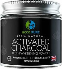 Activated Charcoal Natural Teeth Whitening Powder by Ecco Pure | Efficient