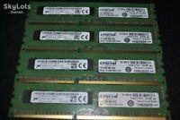 Crucial 16GB Memory RAM 4x4GB PC3-12800E DDR3 1600MHz ECC Unbuffered Dell HP etc