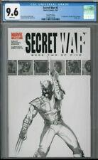 Secret War #2 (2005) 1st App. Quake 2nd Print Sketch Variant CGC 9.6 WOLVERINE