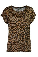Bonmarche Womens Caramel Leopard Animal Print Relaxed Tee T Shirt Top 12-20