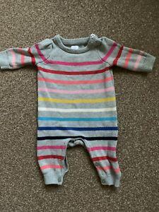 Gap Rainbow Stripe Thick romper 0-3 Months