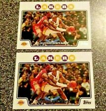 KOBE BRYANT 2008/09 TOPPS LOT OF 2 #24 WITH LEBRON JAMES LAKERS