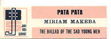 STICKER JUKE BOX - MIRIAM MAKEBA - PATA PATA - THE BALLAD OF THE SAD YOUNG MEN