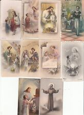 LOT de 10 IMAGES PIEUSES - SOUVENIR PREMIERE COMMUNION PRIERES